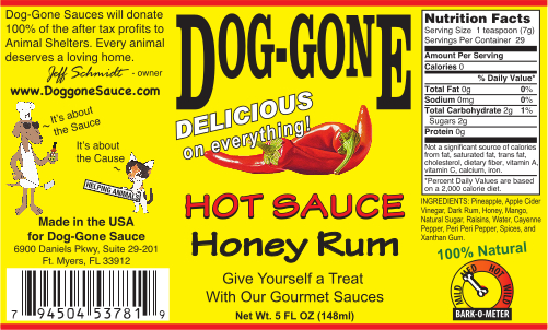 Honey Rum Hot Sauce